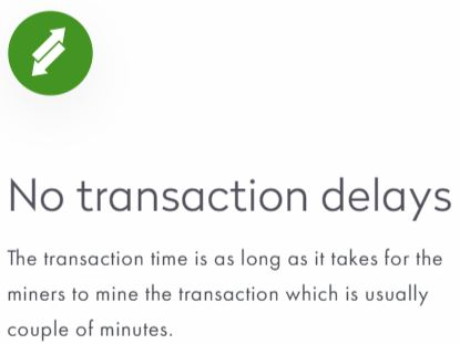 Snippet from the dFantasy website indicating the time delay for a transaction.