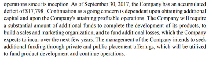 A note within Kalytera's latest financials.