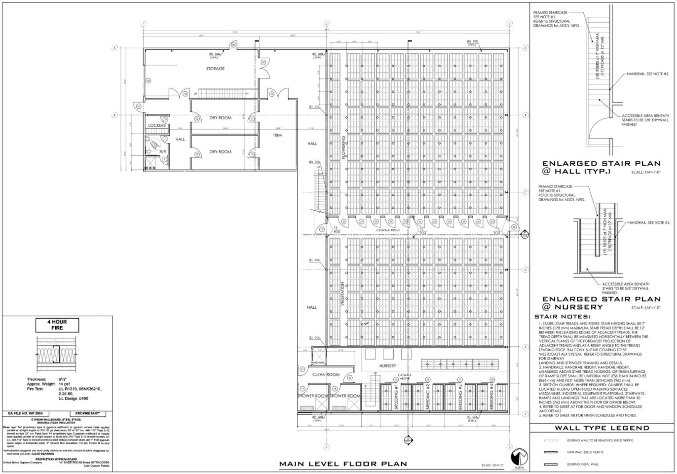 The floorplan of the cultivation facility managed by Lifestyle Delivery Systems.