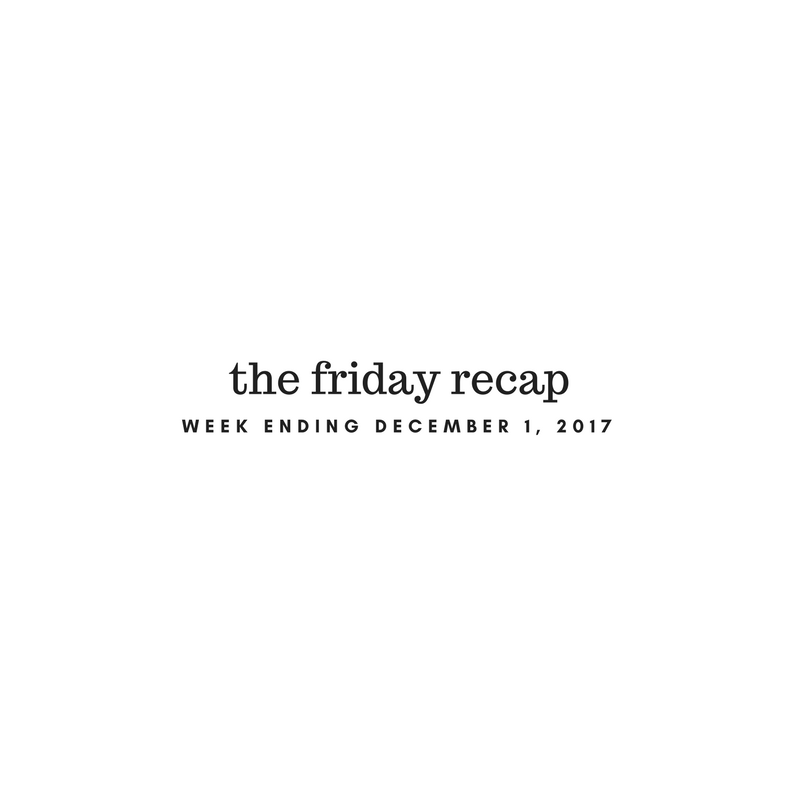 Friday Recap: Week Ending December 1st, 2017