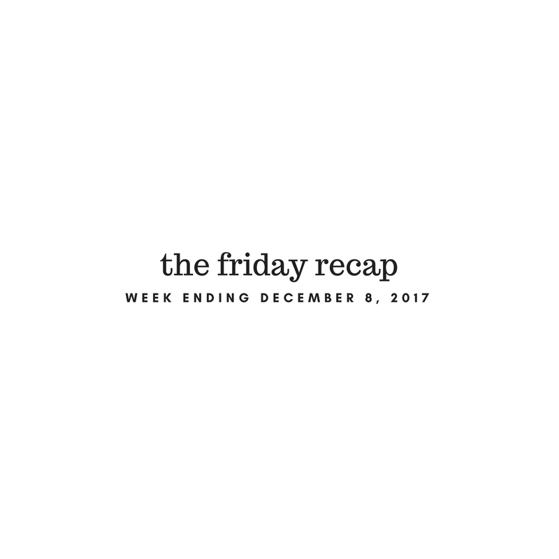 Friday Recap: Week Ending December 8th, 2017