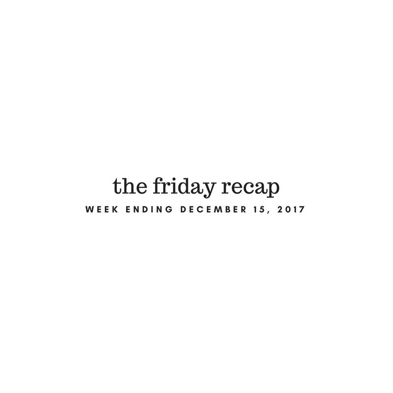Friday Recap: Week Ending December 15th, 2017