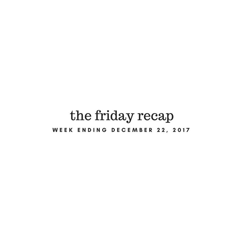 Friday Recap: Week Ending December 22nd, 2017