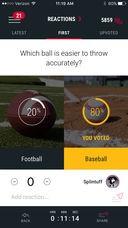 A screenshot from Apple's App Store of the Fandom Sports App.