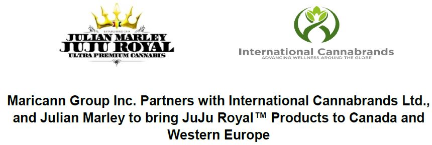 Maricann now has distribution rights for the JuJu Royal brand.