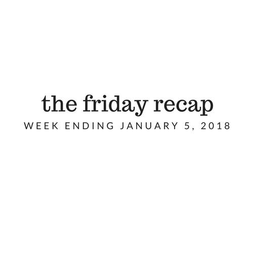 Friday Recap: Week Ending January 5th, 2018