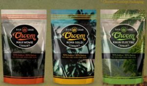 Choom Holdings' proposed product packaging, note the emphasis on branding.