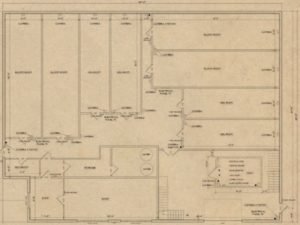 The floor plan of Choom Holding's Virden BC facility.
