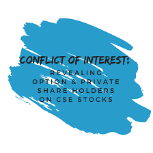 Conflict of Interest: Revealing Option & Private Share Holders on CSE Stocks