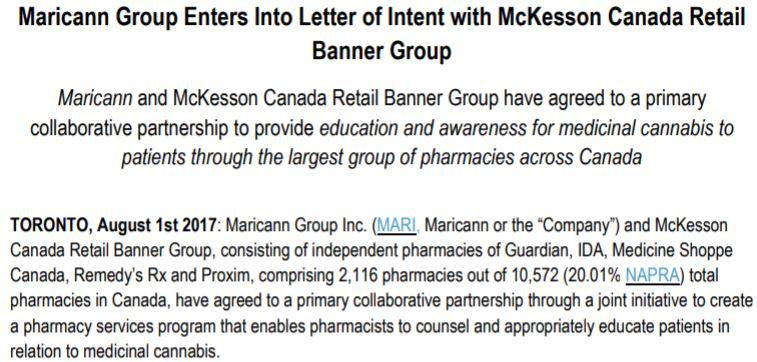 Maricann Group News