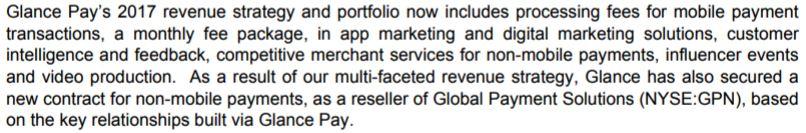 Glance Technologies revenue plan for 2017.