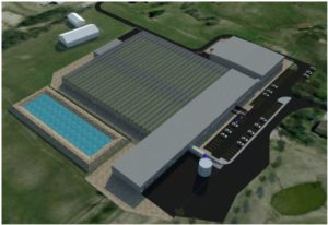 A rendering of the TGOD Hamilton facility.