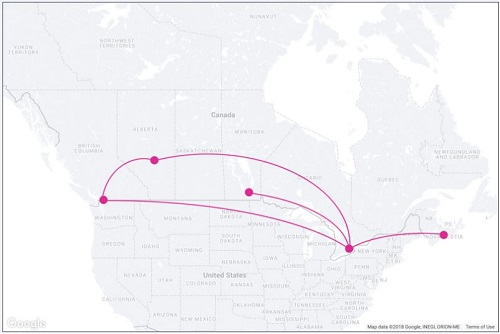 WestJet's Swoop Flight Paths