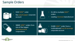 Thermal Energy International Sample Orders