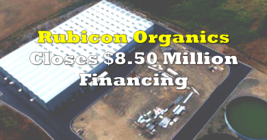Rubicon Organics Closes Financing Above Market Rates