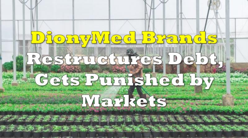 DionyMed Brands Restructures Debt, Gets Punished by Markets