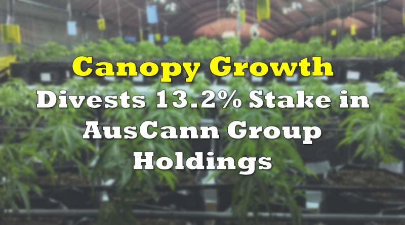 Canopy Growth Divests Stake in AusCann Group Holdings