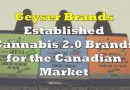 Geyser Brands – Established Cannabis 2.0 Brands for the Canadian Market