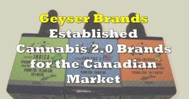 Geyser Brands – Established Cannabis 2.0 Brands for the Canadian Market