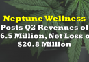Neptune Wellness Posts Q2 Revenues of $6.5 Million, Net Loss of $20.8 Million