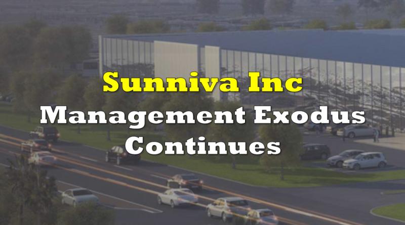 Management Exodus Continues At Sunniva