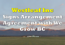 Westleaf To Merge with We Grow BC