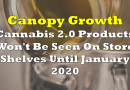 Canopy Growth: Cannabis 2.0 Products Won't Be Seen On Store Shelves Until January 2020