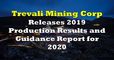 Trevali Mining Releases 2019 Production Results and 2020 Guidance