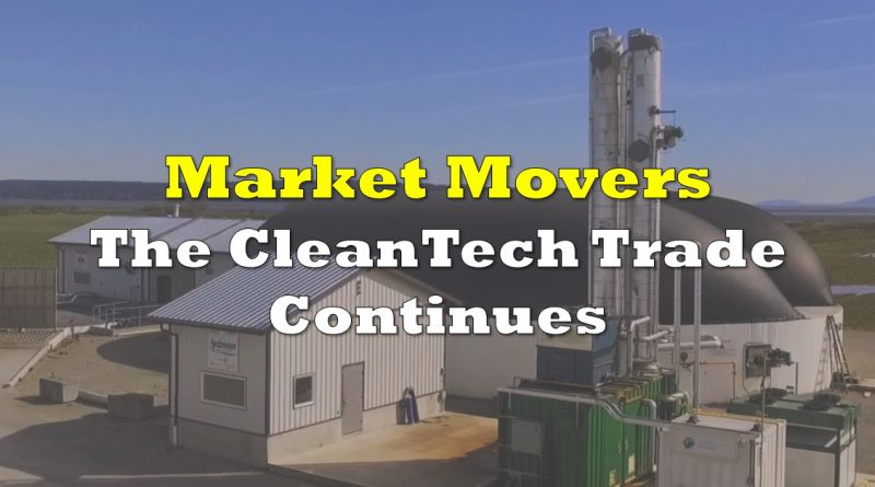 Market Movers: The CleanTech Trade Continues