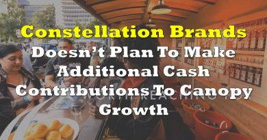 Constellation Brands Not To Make Additional Cash Contributions To Canopy Growth