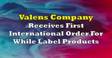 Valens Company Receives First International Order For While Label Products