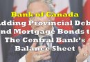 Bank Of Canada Aggressively Adding Provincial Bonds and Mortgages to their Balance Sheet