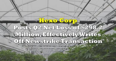 Hexo Posts Net Loss of $298.2 Million, Effectively Writes Off Newstrike Transaction