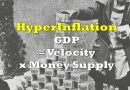 Hyperinflation: Remember, GDP = Money Supply x Velocity