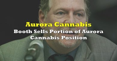 Booth Sells Portion of Aurora Cannabis Position
