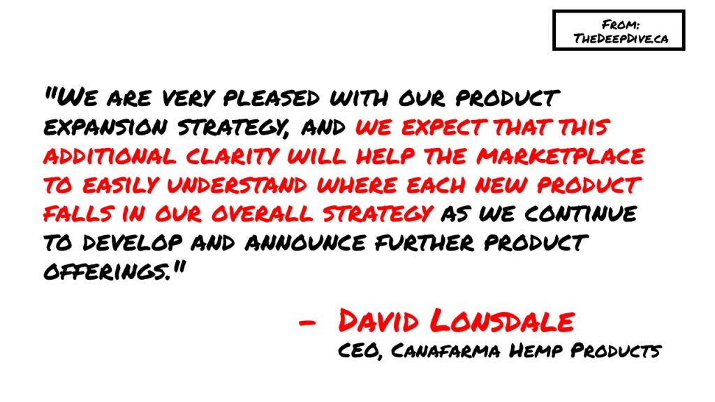 """""""We are very pleased with our product expansion strategy, and we expect that this additional clarity will help the marketplace to easily understand where each new product falls in our overall strategy as we continue to develop and announce further product offerings.""""  David Lonsdale, CEO"""