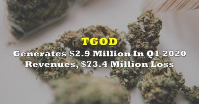 TGOD Generates $2.9 Million In Q1 2020 Revenues, $73.4 Million Net Loss