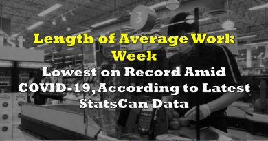 Length of Average Work Week Lowest on Record According to Latest StatsCan Data