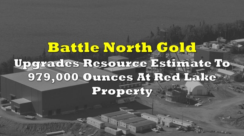 Battle North Gold Upgrades Resource Estimate To 979,000 Ounces At Red Lake Property