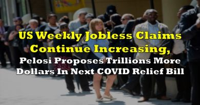 US Weekly Jobless Claims Continue Increasing, Pelosi Proposes Trillions More Dollars In Next COVID Relief Bill
