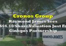 Cronos Group: Raymond James Sees US$4.10/Share Valuation Just For Ginkgos Partnership