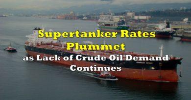 Supertanker Rates Plummet as Lack of Crude Oil Demand Continues