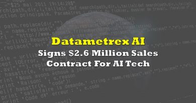 Datametrex Signs $2.6 Million Sales Contract For AI Tech