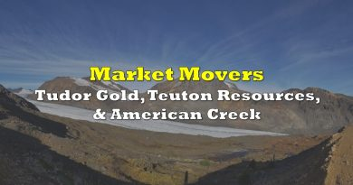 Market Movers: Tudor Gold, Teuton Resources, & American Creek