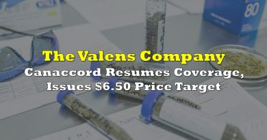 Canaccord Resumes Coverage On The Valens Company, Issues $6.50 Price Target