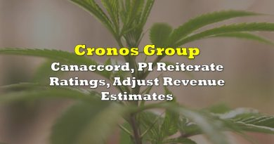 Cronos Group: Canaccord, PI Reiterate Ratings, Adjust Revenue Estimates