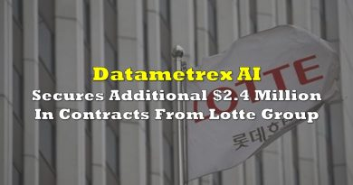 Datametrex AI Secures Additional $2.4 Million In Contracts From Lotte Group