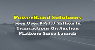 PowerBand Sees Over US$3.0 Million In Transactions On Auction Platform Since Launch