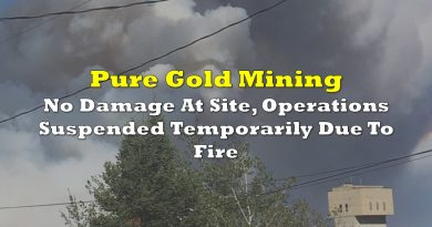 Pure Gold: No Damage At Site, Operations Suspended Temporarily Due To Fire
