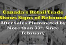 Canada's Retail Trade Shows Signs of Rebound After Sales Plummeted by More Than 33% Since February